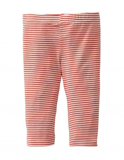 Katoenen legging met rode streep.