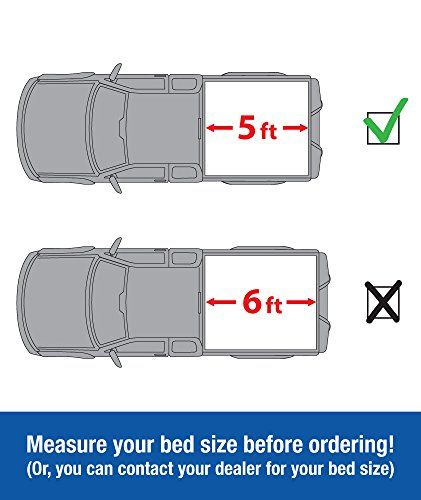 Tyger Auto TG-BC3T1530 Tri-Fold Pickup Tonneau Cover (Fits 2016-2017 Toyota Tacoma Double Cab 5 feet (60 inch) Cargo Bed Tonno Cover (NOT For Stepside))