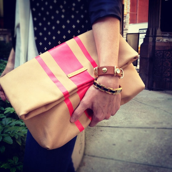 my favorite clutch on the planet. by macherefinery - etsy.com. #neonpink #clutch: Style, Bags Bags Bags, Heavenly Handbags, Hold Foldover, Purses Bags Clutches, Boutique Clutches, Clutches 3Bags2Bitches, Foldover Clutches