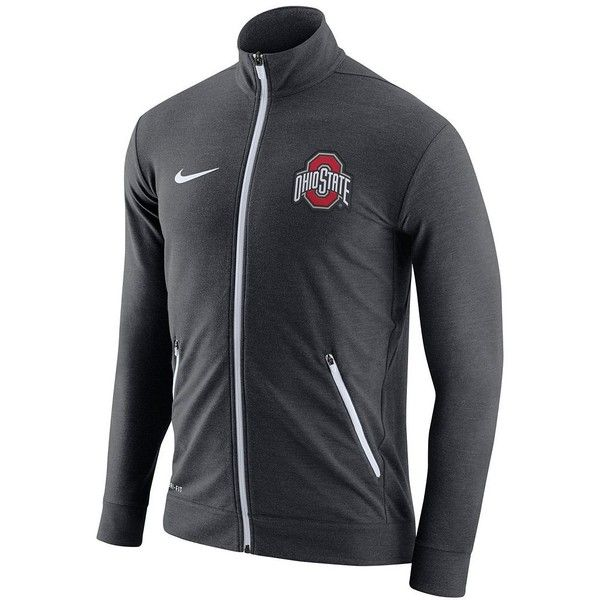 Men's Nike Ohio State Buckeyes Dri-FIT Touch Jacket ($90) ❤ liked on Polyvore featuring men's fashion, men's clothing, men's activewear, men's activewear jackets, ovrfl oth and mens activewear
