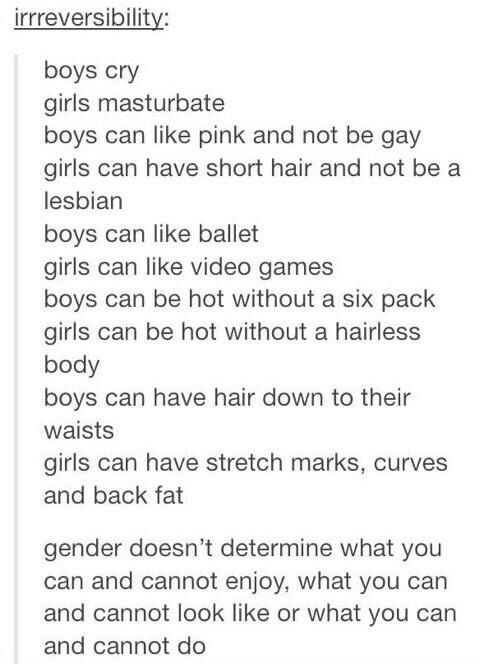 And I really really really really REALLY agree with the 'boys can have hair down to their waist. Realllllly. Really.