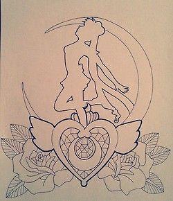 anime my drawing sailor moon tattoo design tattoo concept