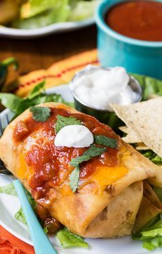 Crispy Beef Chimichangas - easy to make and will rival your favorite Mexican restaurant!