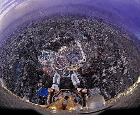 Aerial View from the Clock Tower In the most wonderful place in the world ...Mekkah!