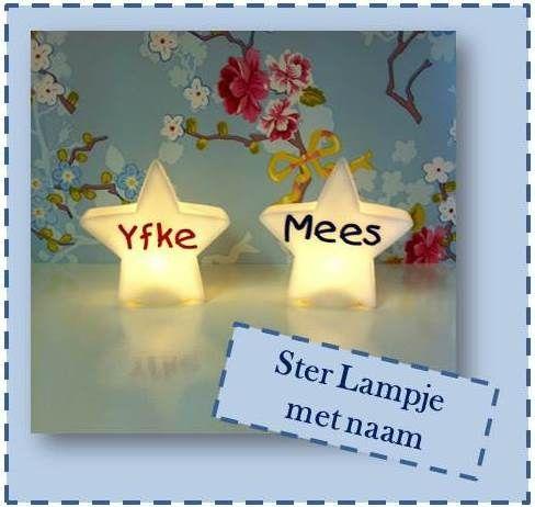 Ster lampje met naam