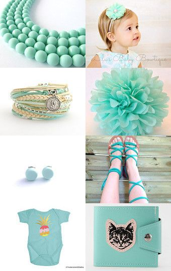 Tender Mint by Victoria Beads on Etsy--Pinned with TreasuryPin.com