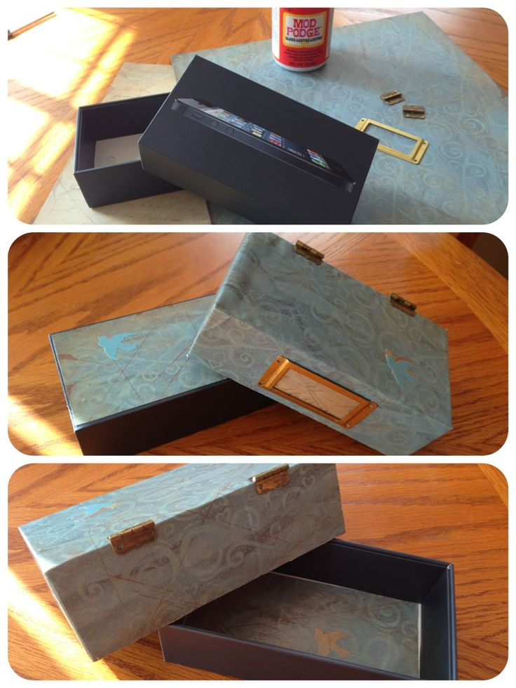 Repurposed Iphone Box My Crafts Pinterest Repurposed