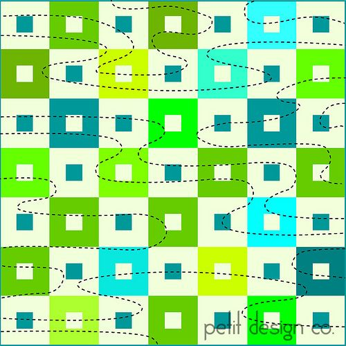 water - walking foot quilting by Petit Design Co., via Flickr