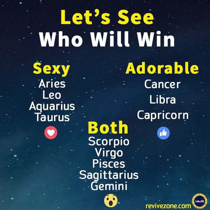 Let's see which team will win - Sexy / Adorable / Both #aries #cancer #scorpio
