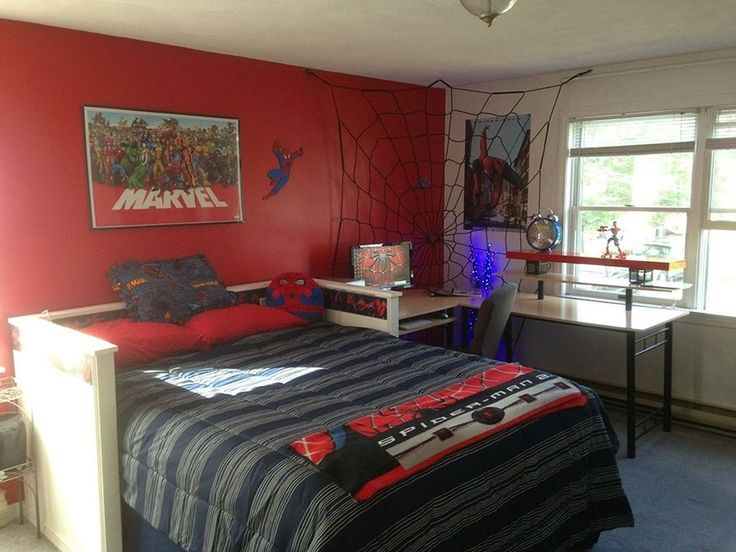 Awesome DIY Spiderman Themed Bedroom Ideas For Your Little Superheroes  Https://hngdiy.