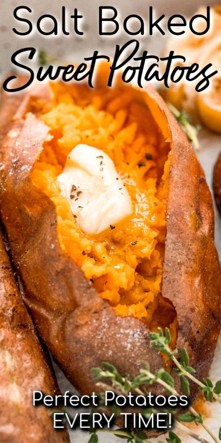 Salt Baked Sweet Potatoes Sweet Potato Recipes Baked Sweet Potato Sweet Potato