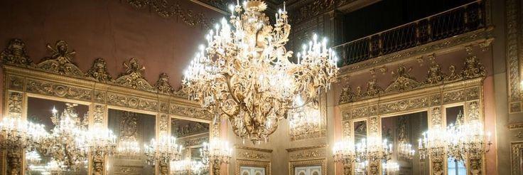 La stupenda sala degli specchi a palazzo Borghese - Firenze