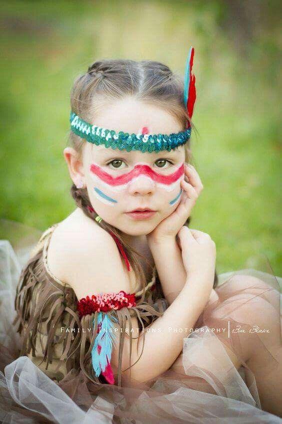 So wirkungsvoll, die Indianerin und simpel geschminkt.