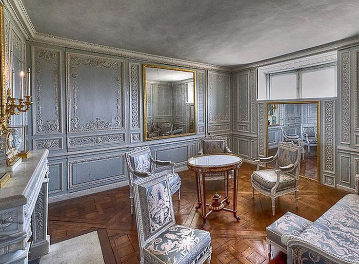 Salon louis xvi le petit trianon versailles france the furniture fabric wood paneling and - Salon louis xvi ...