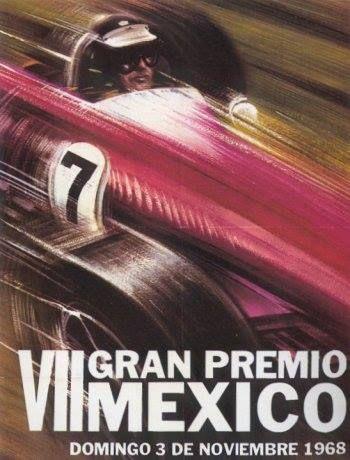 VII GP México 1968 Vintage #F1