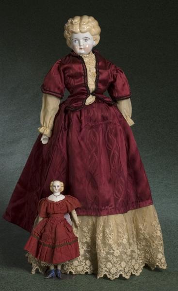 china head dolls value | Early Parian Head & China Head Dolls, - Cowan's Auctions