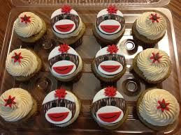 Sock Monkey Cupcakes SO CUTE!!!!!!