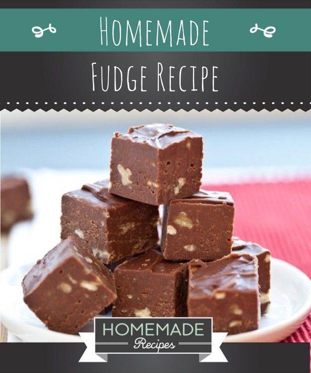 Easy Homemade Fudge Recipe | https://homemaderecipes.com/homemade-fudge-recipe/
