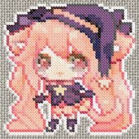 Young Witch Manga girl  Cross x stitch or bead  pattern