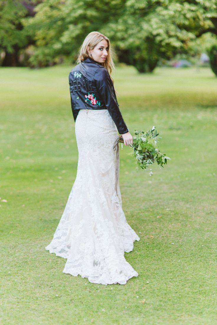Wedding custom leather jacket design. Mrs leather jacket, customised tailored leather jacket for bride.