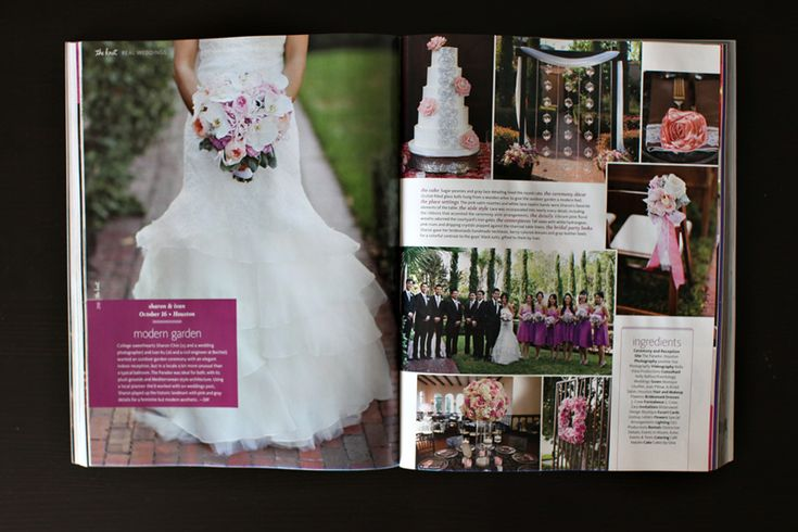 Love the #design and #layout on these pages plus photos by my fav photog: Jasmine Star, Featured : The Knot Magazine : Sharon + Ivan