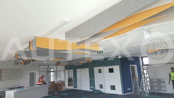 Autex Interior Acoustics - Quietspace® Frontier™ - Edgewater College, Auckland, NZ - Custom - Colours: Flatiron & Senado - Installed by Nomadtika - Acoustics in Education
