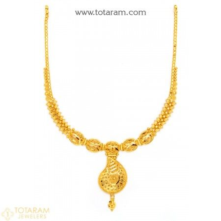 22K Gold Necklace for Women - 235-GN1895 - Buy this Latest Indian Gold Jewelry Design in 13.750 Grams for a low price of  $787.49