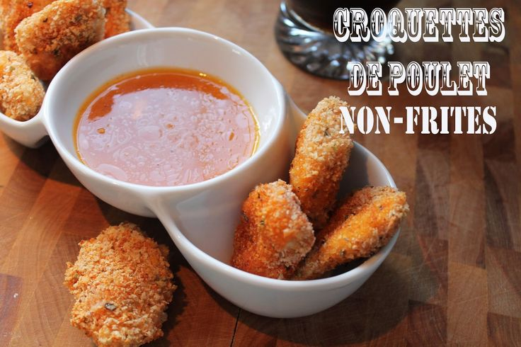 Coquettes de poulet non-frites Baked chicken nuggets
