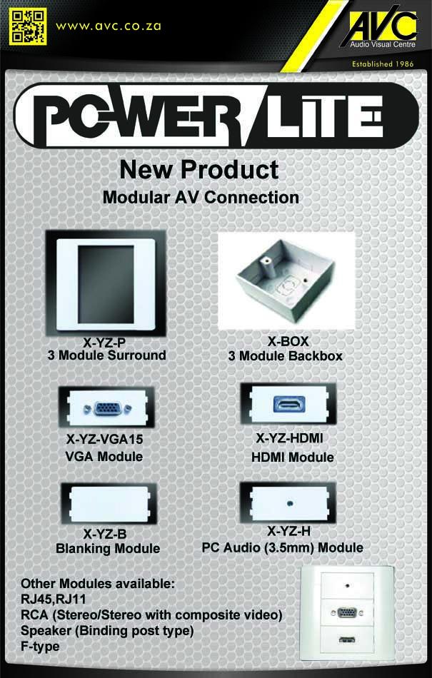 New Powerlite AV Connection Panels