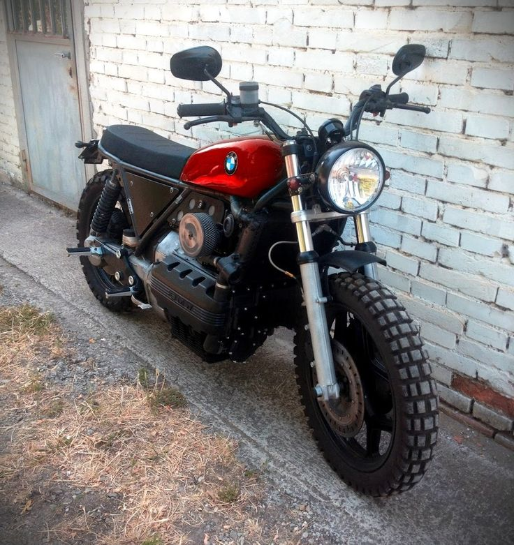 BMW K100 Brat Style - Matteo Mussi #motorcycles #bratstyle #motos | caferacerpasion.com
