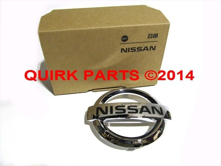 2009-2012 Nissan Maxima Front Grille Emblem Chrome GENUINE OEM BRAND NEW #Nissan