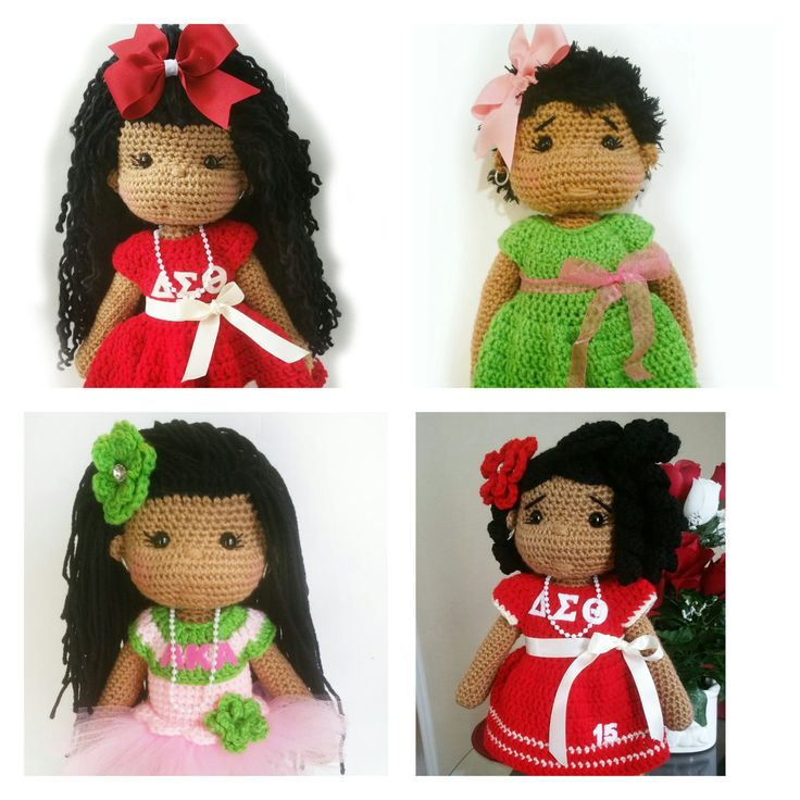 Custom Crochet Doll - SORORITY GIRLS by OliviaandMeBoutique on Etsy