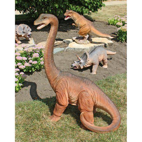 Design Toscano Scaled Jurassic Brachiosaurus Dinosaur Statue   Garden  Statues At Hayneedle