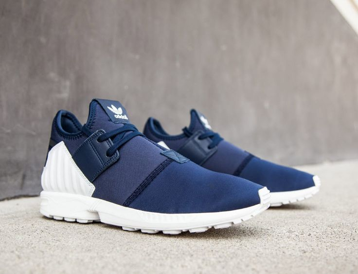 ... adidas Originals ZX Flux Plus  Collegiate Navy Adidas - ZX Flux Adv Asym