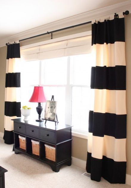 I just love these intense striped curtains!