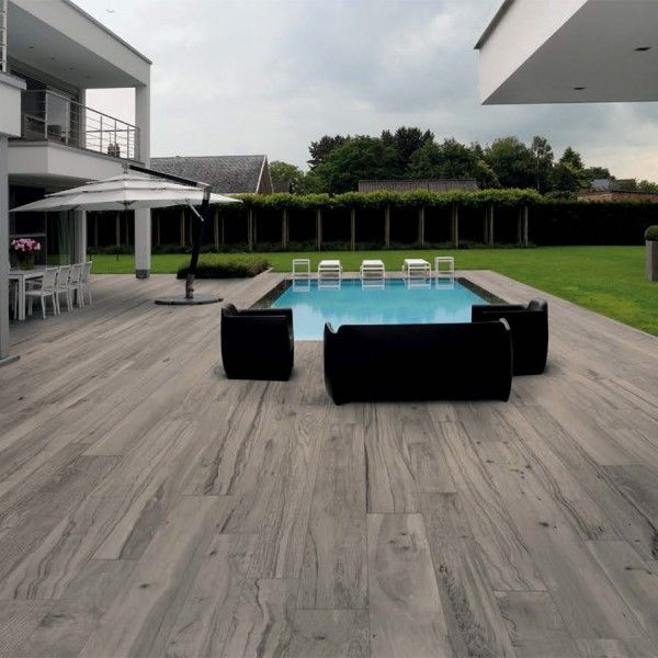 Can You Believe This Is A Porcelain Paver Woodtalk Plank Tiles Achieve That