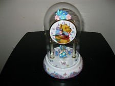 Disney Winnie the Pooh Glass Domed Clock with Rotating Butterflies - Gorgeous!!!Pooh Clocks, Winnie The Pooh, Pooh Glasses