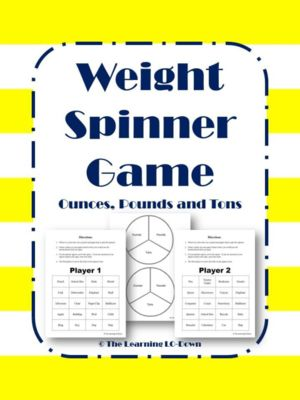 Weight: Ounces, Pounds and Tons Game from TheLearningLODown on TeachersNotebook.com -  (6 pages)  - This is a weight or mass game where students identify when they would weigh something with ounces, pounds or tons.