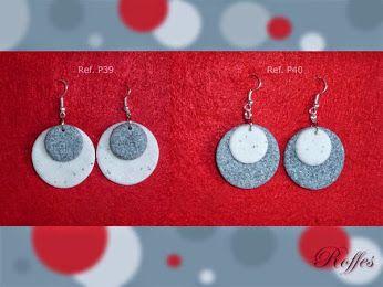 Pendientes imitación mármol y granito