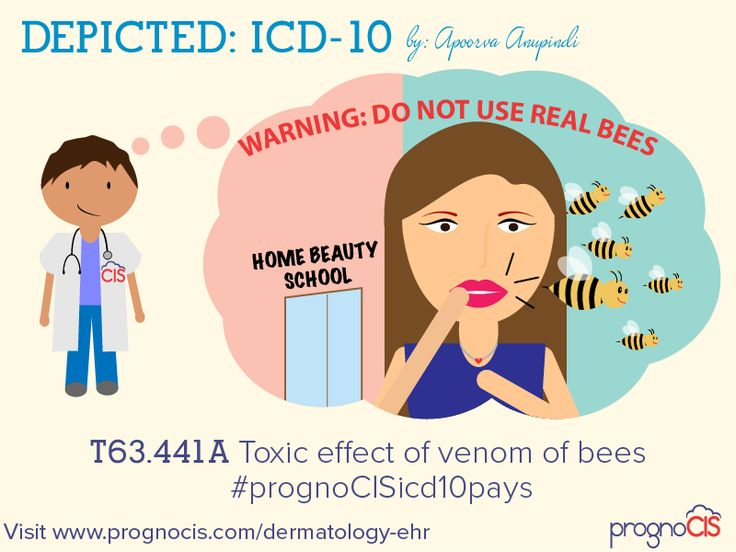 ICD-10 Humor: Toxic effect of venom of bees