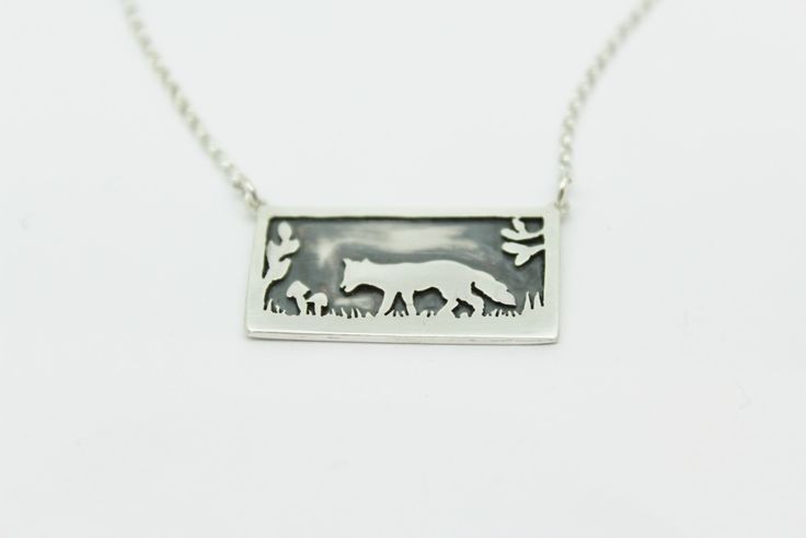 Silver Fox Necklace - Sarah Brooks Jewellery