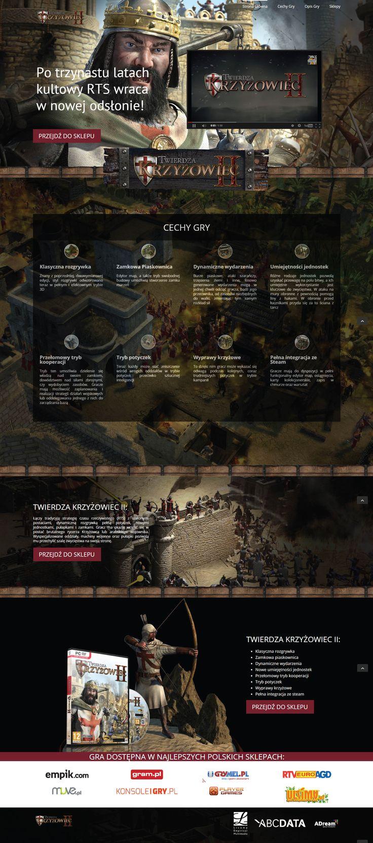 """Strona typu """"Landing Page"""" realizowana dla firmy ABCData na potrzeby kampanii promocyjnej gry Twierdza 2"""