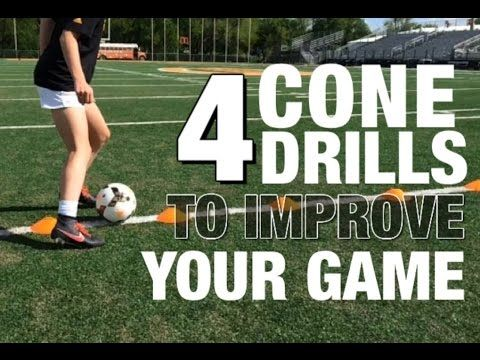 Soccer Cone Drills Beginner & Advanced - YouTube... 1