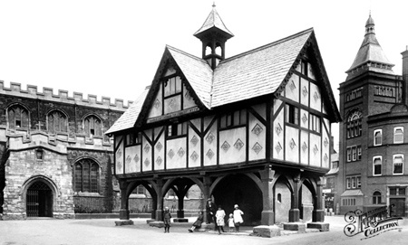 Old photo of Old Grammar School 1922, Market Harborough