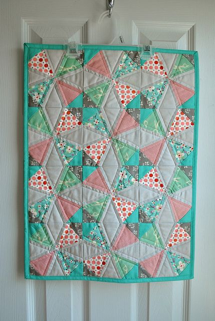 by partridgepeartree: Baby Girl Quilts, Wall Hanging, Mini Quilts, Miniature Quilts, Colors, Small Quilts, Quilts Baby