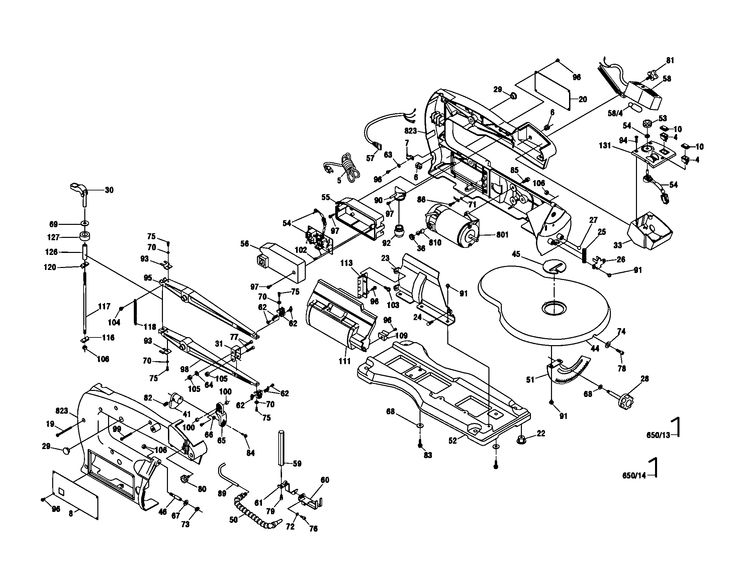 scroll saw diagram  u0026 parts list for model 1680 dremel