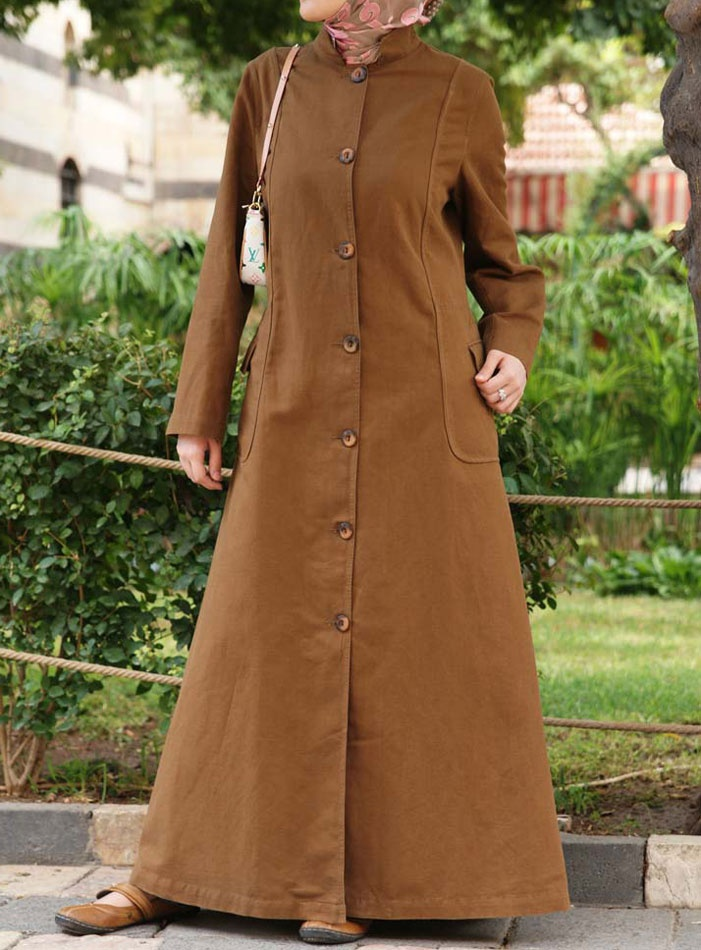 Mandarin Collar Coat from SHUKR