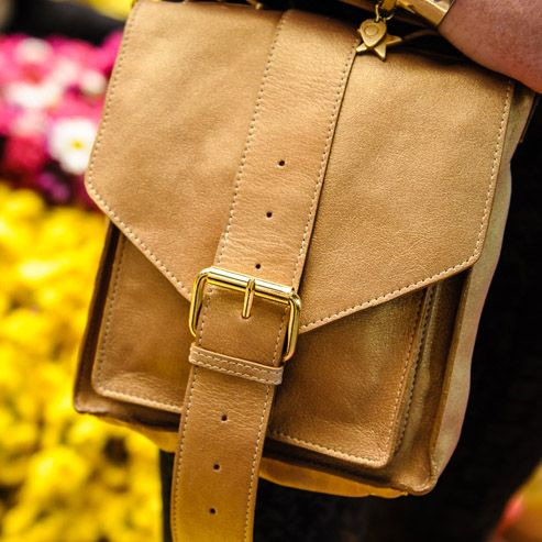 Leather satchel. Gold. Luxury. Fairtrade. Buy at: www.bettyandbetts.com