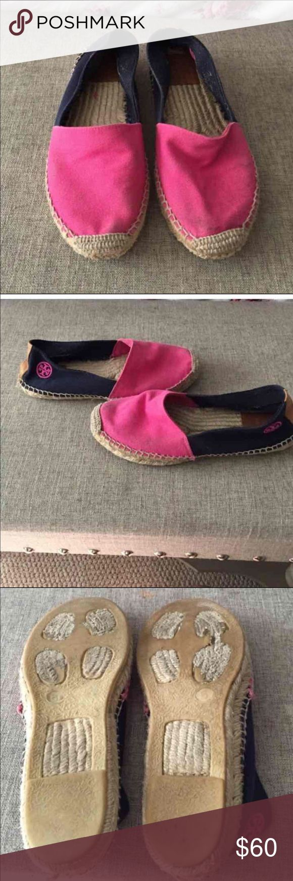 Tory Burch Pink Espadrilles Great used conditions. Does not include box. Open to trades Tory Burch Shoes Espadrilles