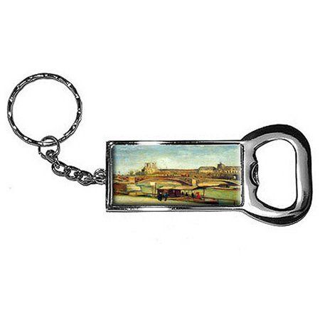 Bologne By Vincent Van Gogh Keychain Key Chain Ring Bottle Bottlecap Opener, Silver